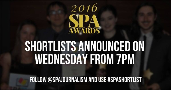 SPA Awards Shortlist 2016
